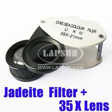 2 in 1 Chelsea Jadeite Filter Gemstone Gem Tester + 35X Magnifier Loupe Lens UK