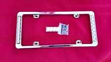1955 56 57-?  CHEVY CHEVROLET CHROME LICENSE PLATE FRAME W/RED LED STOP LIGHTS