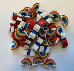 50 Mini Rainbows shaped erasers teacher supply sorting math counter Weather