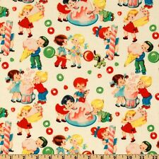 Michael Miller Retro Fabric- Candy Shop 100% Cotton- By the Yard- Vintage Kids!