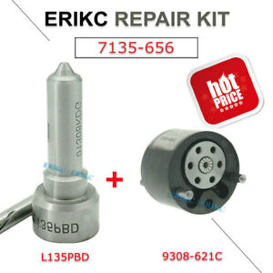 ERIKC 7135-656 Repair Kit Nozzle L135PBD+Valve 9308-621C for Injector EJBR00504Z