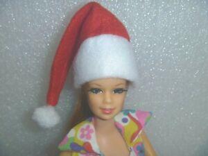 Set of (2) Santa Hat for Your Barbie~*~Also Fit Ken, Skipper, Kelly, Francie