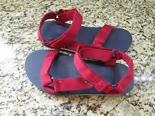 NEW SONOMA RED EASY TIE SANDALS MENS 12 STRAPPY SANDALS  FREE SHIP