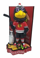 Tommy Hawk Chicago Blackhawks Stanley Cup Champions Mascot Bobblehead NHL