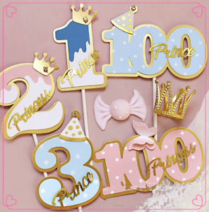UK Cake Topper Birthday Party Happy Decoration Number 1 2 3 100 Supplies Glitter