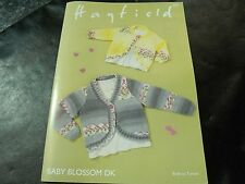 Hayfield Baby Blossom Double Knitting Cardigans Pattern 4841 Birth to 7 Years
