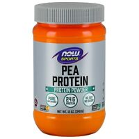 NOW Foods Pea Protein, Pure Unflavored, 12 oz Powder