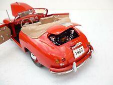 Autoart / / SIGNATURE MODELS  PORSCHE 356 CABRIO 1950 RED 1:18 DIECAST  OHNE BOX