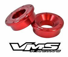 VMS RACING BILLET ALUMINUM 2PC SOLID FRONT SHIFTER BUSHING CIVIC INTEGRA RED