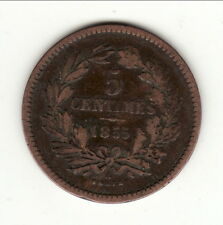 LUXEMBOURG RARE 5 CENTIMES 1855