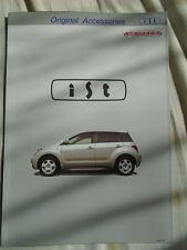 Toyota ist Original Accessories brochure c2001 Japanese text