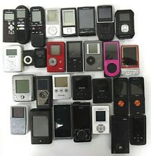 Lot of 30 MP3 Players & Audio Recorders: Mixed Brands & Models / For Parts Only