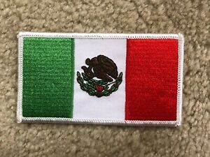 #5103 MEXICO Flag Mexican Flag Embroidery Applique Iron On Patch