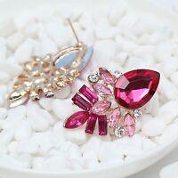 Exquisite New design women gorgeous bib statement crystal long 3.8cm Earrings 73