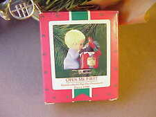 1986 Open Me First - Clip On Hallmark Keepsake Christmas Ornament  xo0274