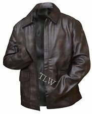 Harrison Ford Indiana Jones Genuine Leather Jacket BROWN Distressed - All Size