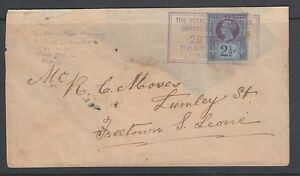 GREAT BRITAIN USED ABROAD COVER OIL RIVER  AKASSA TO SIERRA LEONE 1896 !