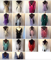 ORGANZA WRAP STOLE SHAWL WEDDING PROM CRUISE MOTHER *ASS.COL.**free samples**