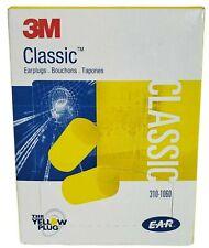 3M Classic Ear Plugs 30 Pairs 29 Decibel Noise Reduction 310-1060 Yellow