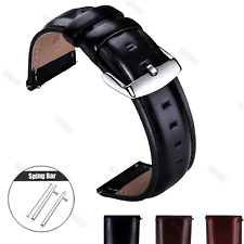 18 20 22mm Quick Release Retro Leather Watch Band Wrist Strap For Fossil Watch