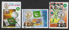 PAKISTAN 1992 CRICKET WORLD CUP IMRAN KHAN FLAGS Set of 3 USED