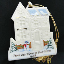 Lenox From Our Home To Your Home Merry Christmas House Ornament 24k Gold Tassel