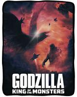 "Godzilla King of the Monsters 45"" x 60"" Flannel Fleece Blanket"