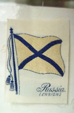 Cigarettes Silk FLAG/ Anstie- RUSSIA (ENSIGN) FLAG Embroidery Silk(apx.5.5x4 cm)
