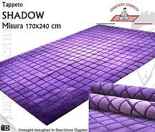 Tappeto Taftato SHADOW 170x240 Viola Sfumato in rilievo - Acrilico Fondo Cotone