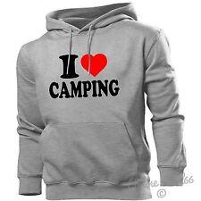 I Love Camping Hoodie Herz Hoody Männer Frauen Kinder Zelten Festival schlamm Camp Wohnmobil