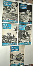 1950 thru1956 MODEL RAILROADER Magazines, 20 issues, very good to fair condition