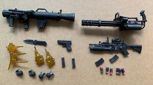 "22pcs lot Punisher Weapons Accessories Rifle for 6"" Action Figure 1:12 Mezco"