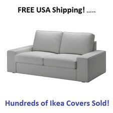 IKEA KIVIK Loveseat (2) Two Seat Sofa) Cover Slipcover ORRSTA LIGHT GRAY Sealed!