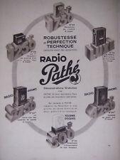 PUBLICITÉ PRESSE 1934 RADIO PATHÉ TOURNE DISQUES PHONO RÉCEPTEUR - ADVERTISING
