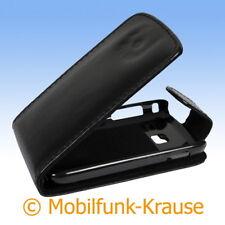 Flip Case Etui Handytasche Tasche Hülle f. Samsung Galaxy Y Duos (Schwarz)