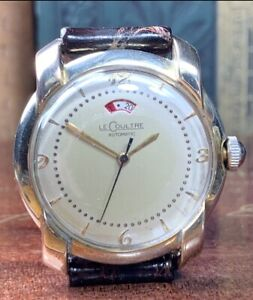 1946 LeCOULTRE BUMPER AUTO MAN'S WRIST WATCH w/POWER RESERVE Cal.481 Keeps Time