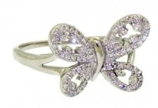 14k white gold 0.50ct diamond butterfly cocktail ring size 7.25