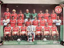 More details for original manchester united team photo poster sharp shirt 1983 86cmx56cm mufc