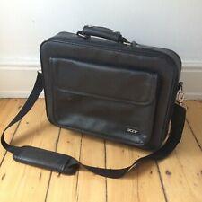 Acer Laptop Case Shoulder Bag Black Business Briefcase School Messenger Leather