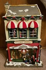 Mr. Christmas Gold Label Collection Animated Village Hyde Park Toy Store as is