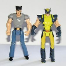 "Marvel X-Men Wolverine 4"" Toy Figure Set  (Classic Uniform & Civilian)"