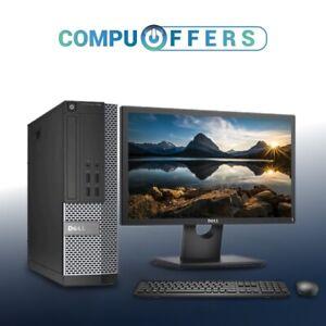 "Dell Computer PC Desktop 19"" LCD WideScreen 8GB RAM 500GB HD Intel Windows 10"