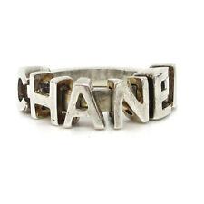 CHANEL CC Logos Charm Ring Silver Size 7 01P France Accessories Vintage AK34999