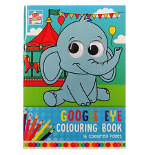 Childrens A4 Wiggly Eyes Colouring Book - Animals, by Kids Create