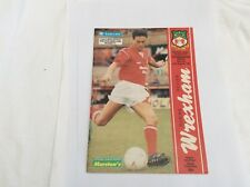 Wrexham v Peterborough United Barclays Leauge  Division 4  August 1990