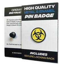 Biohazard High Quality Metal & Enamel Pin Badge with Secure Locking Back