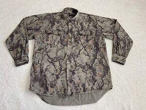 Natural Gear NAT GEAR Mens Sz XL Long Sleeve Button Shirt Camouflage Cotton