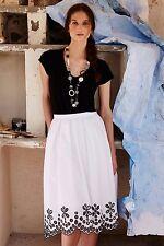 NWT Anthropologie Poplin Eyelet Skirt by Moulinette Soeurs White Size 4