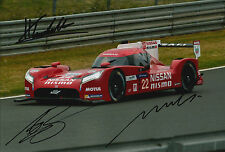 Tincknell, Krumm, Buncombe Hand Signed Nissan Nismo Photo 12x8 Le Mans 2015 2.