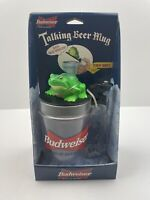 "Vintage Budweiser Talking  Beer Mug Frog ""Bud-Weis-Er"" 1996 King of Beers NIB"